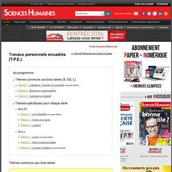 Thèmes des TPE et ressources pédagogiques en ligne