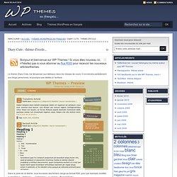 Diary Cute : thème d'école… | WP Themes - Thèmes WordPress en français