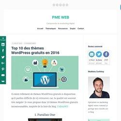 Top 10 des thèmes WordPress gratuits en 2016