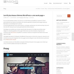 """Les 60 plus beaux thèmes WordPress """"une seule page"""""""