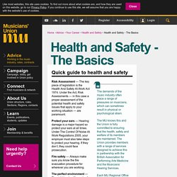 theMU - Health and Safety - The Basics