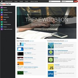 thenewboston - Free Educational Video Tutorials on Computer Programming, Web Design, Game Development and More!