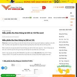 Mẫu phiếu thu theo thông tư 200 và 133 file word » VPP VINACOM