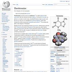 WIKIPEDIA – Theobromine.