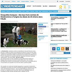 L INDEPENDANT 09/10/13 Croquettes toxiques : des taux hors normes de théobromine à l'origine du décés de 24 chiens dans l'Aude