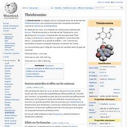 WIKIPEDIA – Théobromine.