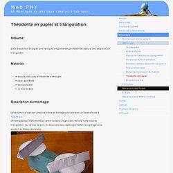Théodolite en papier