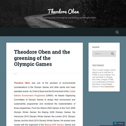 Theodore Oben and the greening of the Olympic Games – Theodore Oben