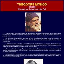 Théodore Monod explorateur modèle