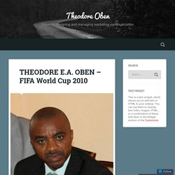 Theodore Oben in FIFA World Cup 2010