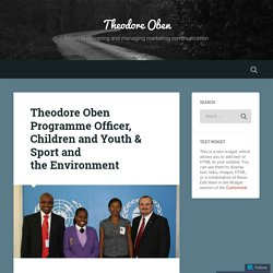 Theodore Oben at Children - Youth & Sport Programs