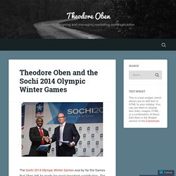 Theodore Oben and the Sochi 2014 Olympic Winter Games – Theodore Oben