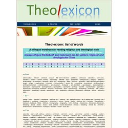 Theolexicon: trilingual wordbook for reading religious and theological texts