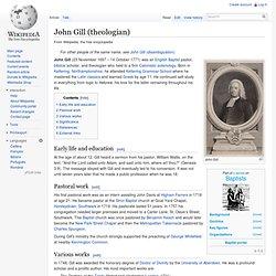 John Gill (theologian)