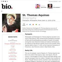 St. Thomas Aquinas - Theologian, Philosopher, Priest, Saint - Biography.com