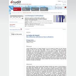 Laval théologique et philosophique v61 n3 2005, p.463-496