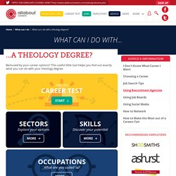 What can I do with a theology degree?