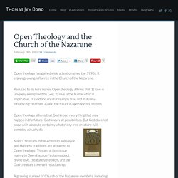 Open Theology and the Church of the Nazarene · For The Love of Wisdom and The Wisdom of Love · Thomas Jay Oord
