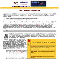 House Church Theology: Doctrine of Election