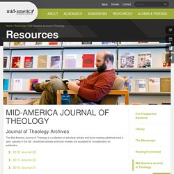 Mid-America Journal of Theology