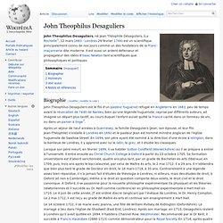 John Theophilus Desaguliers 1683-1744