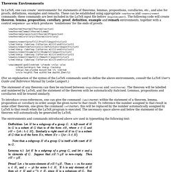 Theorem Environments