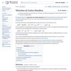 Théorème de Cayley-Hamilton