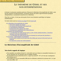 Le théorème de Gödel et ses non-interprétations