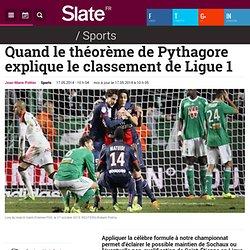 Quand le théorème de Pythagore explique le classement de Ligue 1