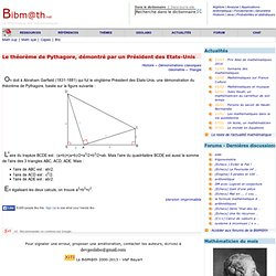 Le théorème de Pythagore et Garfield