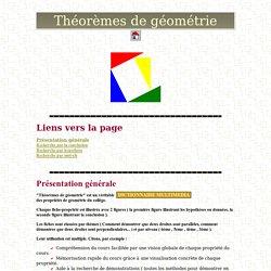 Théorèmes de géométrie