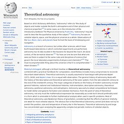 Theoretical astronomy