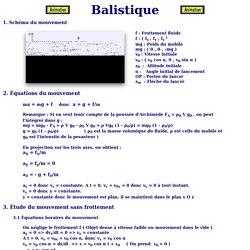 théorie de la balistique