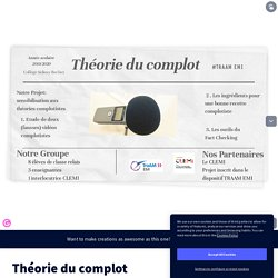 Théorie du complot by cdi.clgbechet on Genially
