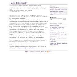 Théorie de la clarté cognitive, selon Fijalkow - Hacked By Sneaky