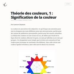 Théorie des couleurs, 1 : Signification de la couleur