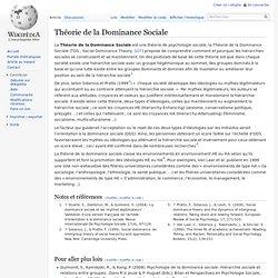 Théorie de la Dominance Sociale