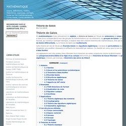 theorie-de-galois : Mathématique