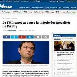 Le FMI remet en cause la théorie des inégalités de Piketty