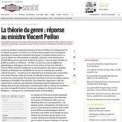 La théorie du genre : réponse auministre Vincent Peillon