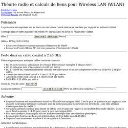 Théorie radio et calculs de liens