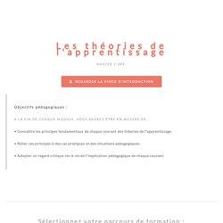 Les théories de l'apprentissage Master 2 IME