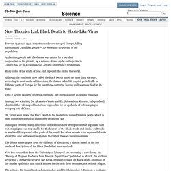 New Theories Link Black Death to Ebola-Like Virus