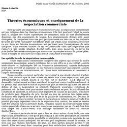 théories et négociation