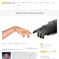 Théories de l'évolution et création