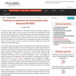 Théories et influence de l'économiste John Maynard KEYNES