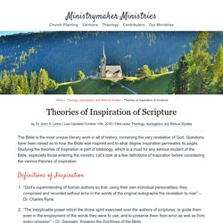Theories of Inspiration of Scripture