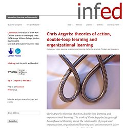 chris argyris, double-loop learning and organizational learning @ the encyclopedia of informal education