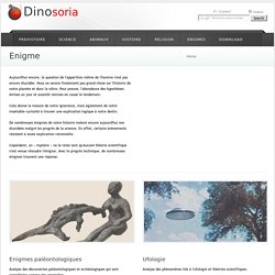 Enigme. Mystere. Theories et Solutions. Dinosoria
