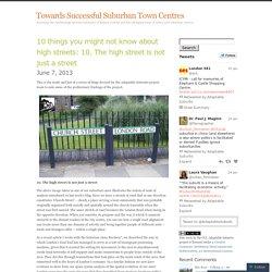 Towards Successful Suburban Town Centres